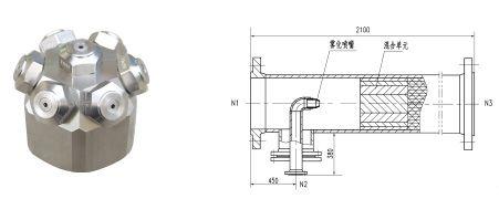 尽管本公司的喷射混合器在结构设计时已考虑喷嘴的可